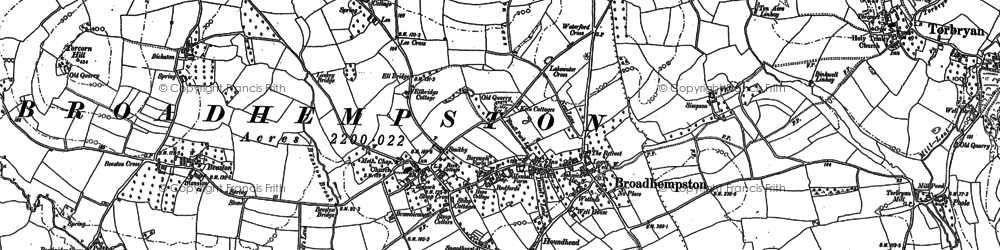 Old map of Levaton in 1886