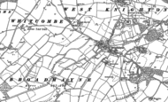 Old Map of Broadmayne, 1886