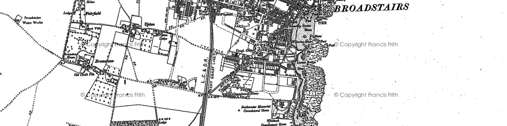 Old map of Broadstairs in 1905