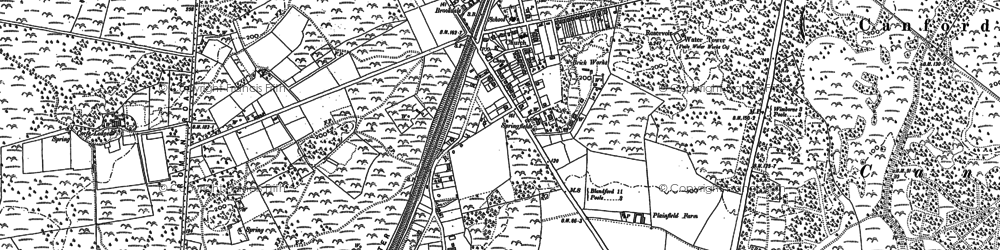Old map of Broadstone in 1887