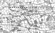 Old Map of Broadwoodkelly, 1885 - 1886