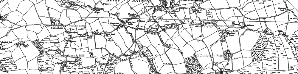 Old map of Woodcroft in 1885