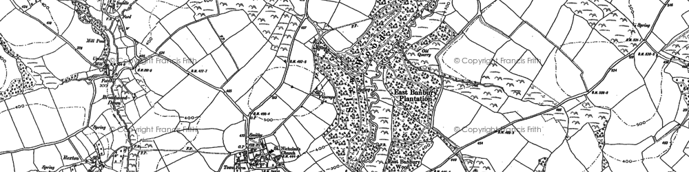 Old map of Winslade in 1883