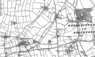 Old Map of Brockford Street, 1884