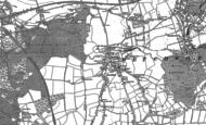 Old Map of Brockham, 1895