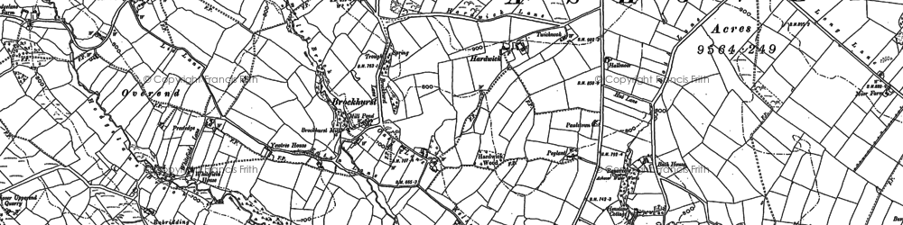 Old map of Alicehead in 1879