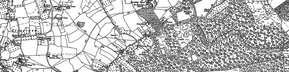 Old map of Wrington Warren in 1883