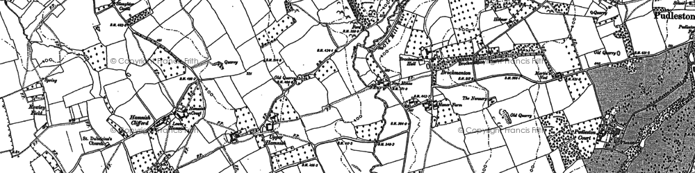 Old map of Bach in 1885