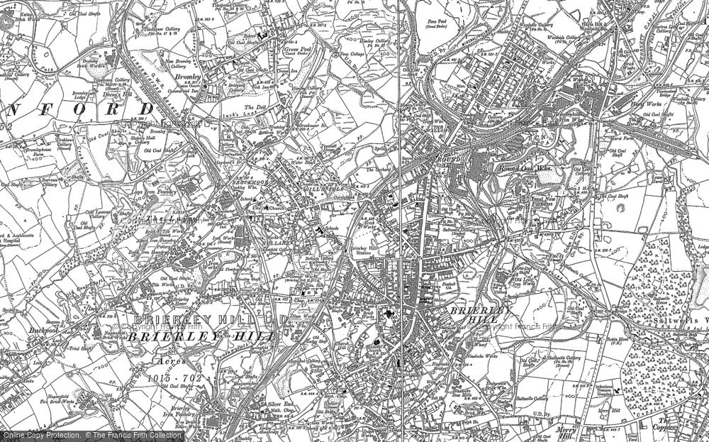 Old Map of Brockmoor, 1901 in 1901