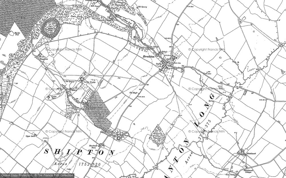 Old Map of Historic Map covering Larden Grange in 1882