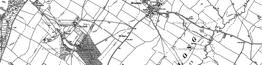 Old map of Larden Cott in 1882