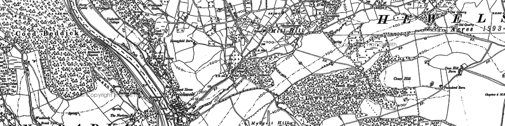 Old map of Brockweir in 1900