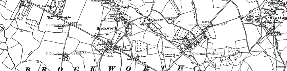 Old map of Brockworth in 1883