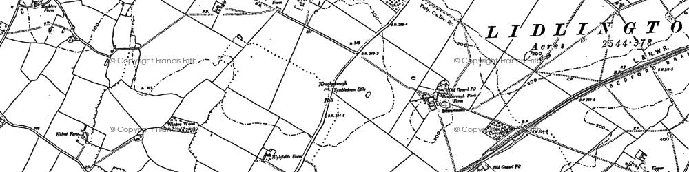 Old map of Brogborough in 1882