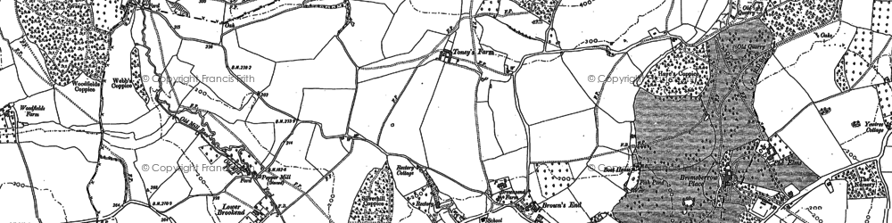 Old map of Whiteleaved Oak in 1883