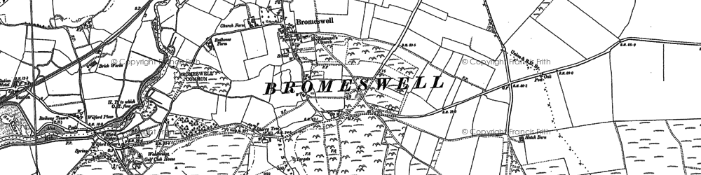 Old map of Wilford Br in 1881
