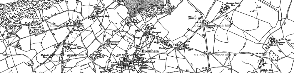 Old map of Westbrook in 1899