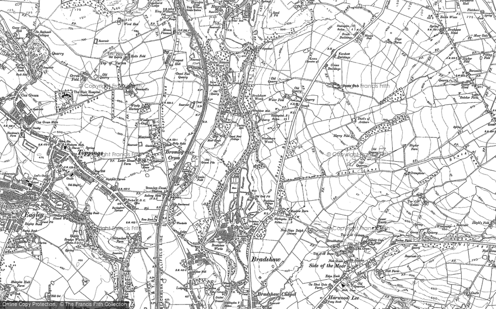 Old Map of Historic Map covering Astley Bridge in 1890