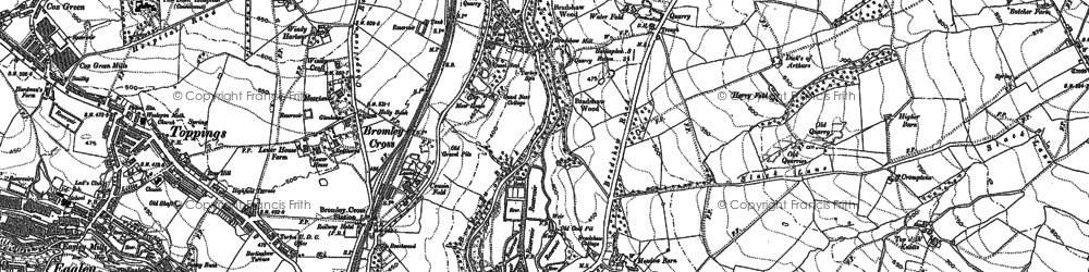 Old map of Bank Top in 1890