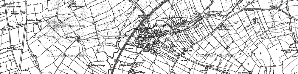 Old map of Brompton in 1891