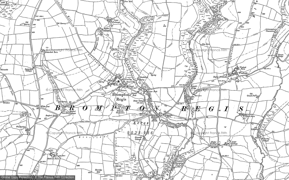 Old Map of Historic Map covering Woolcotts in 1887