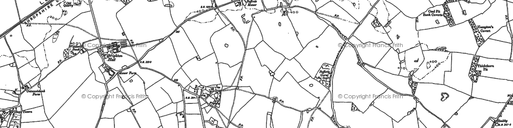 Old map of Broadhill in 1880