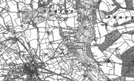 Old Map of Bromyard Downs, 1885