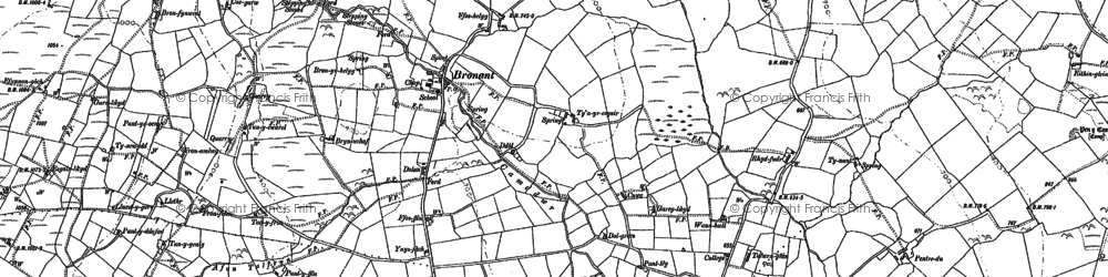 Old map of Bronant in 1886