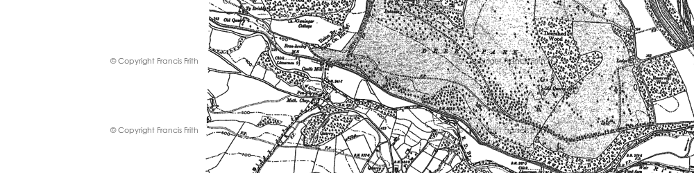 Old map of Bronygarth in 1909
