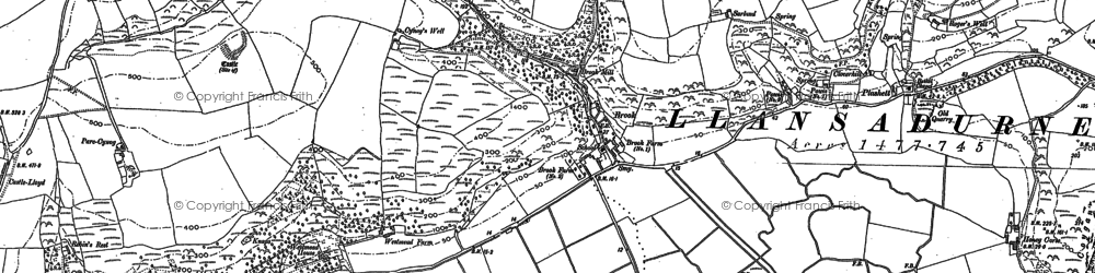 Old map of Brook in 1887