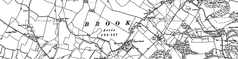 Old map of Brook in 1896