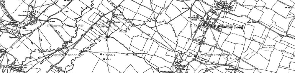 Old map of Ashfield in 1882
