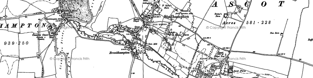 Old map of Brookhampton in 1897