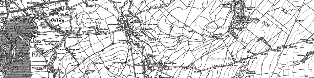 Old map of Brookhouse in 1910