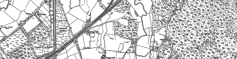 Old map of Brooklands in 1895