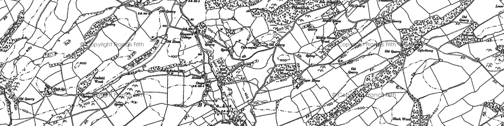 Old map of Bryn in 1884