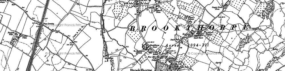 Old map of Wynstones Ho in 1882