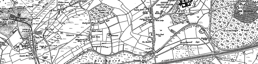 Old map of Brookwood in 1895