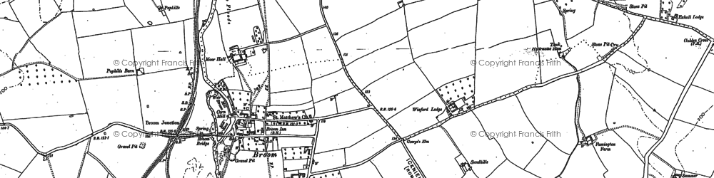 Old map of Broom Court in 1885