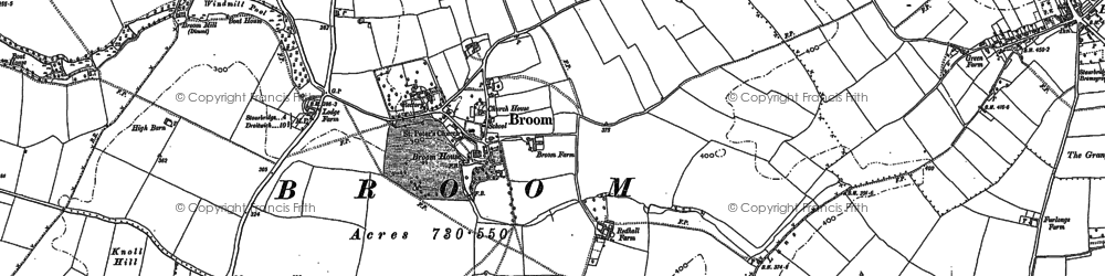 Old map of Yieldingtree in 1882