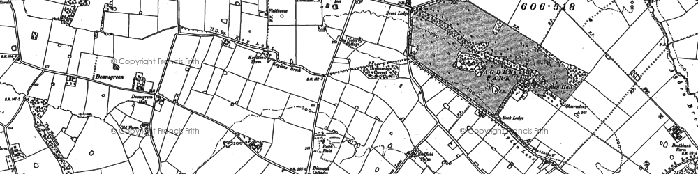 Old map of Broomedge in 1908