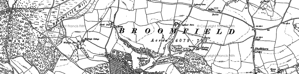 Old map of Yalway in 1887