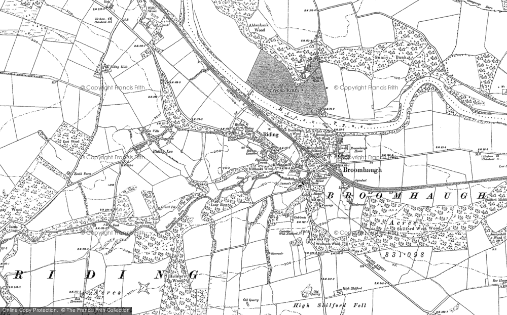 Old Map of Historic Map covering White Hemmels in 1895