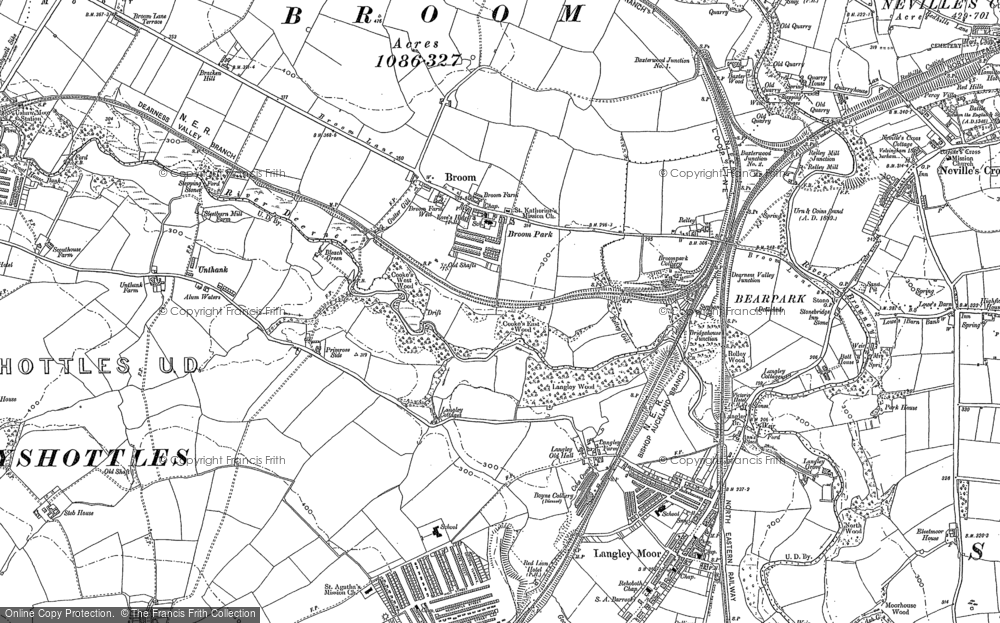 Old Map of Historic Map covering Aldin Grange in 1895