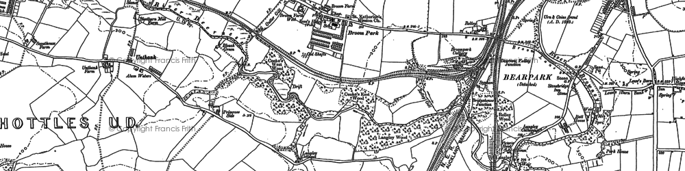 Old map of Aldin Grange in 1895