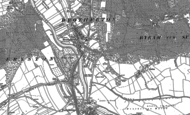 Old Map of Brotherton, 1890 - 1891