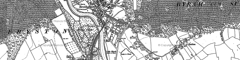 Old map of Brotherton in 1890