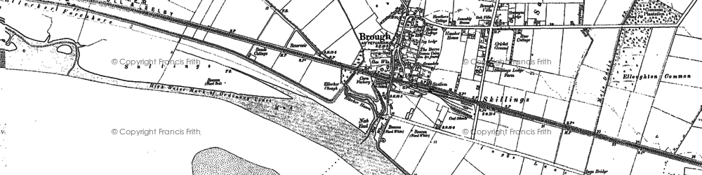 Old map of Brough in 1888
