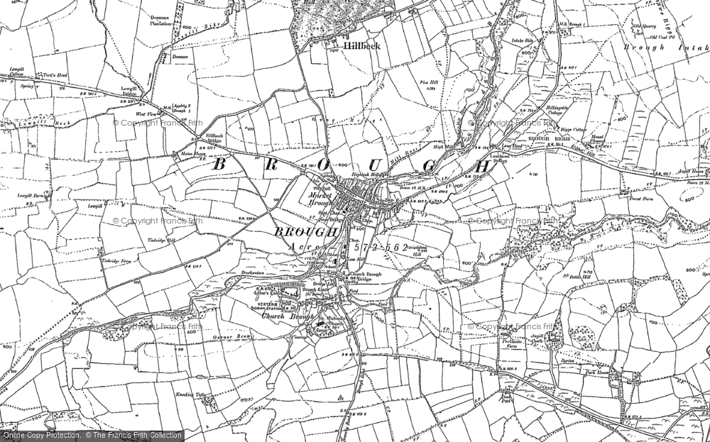 Old Map of Historic Map covering Woodside in 1897