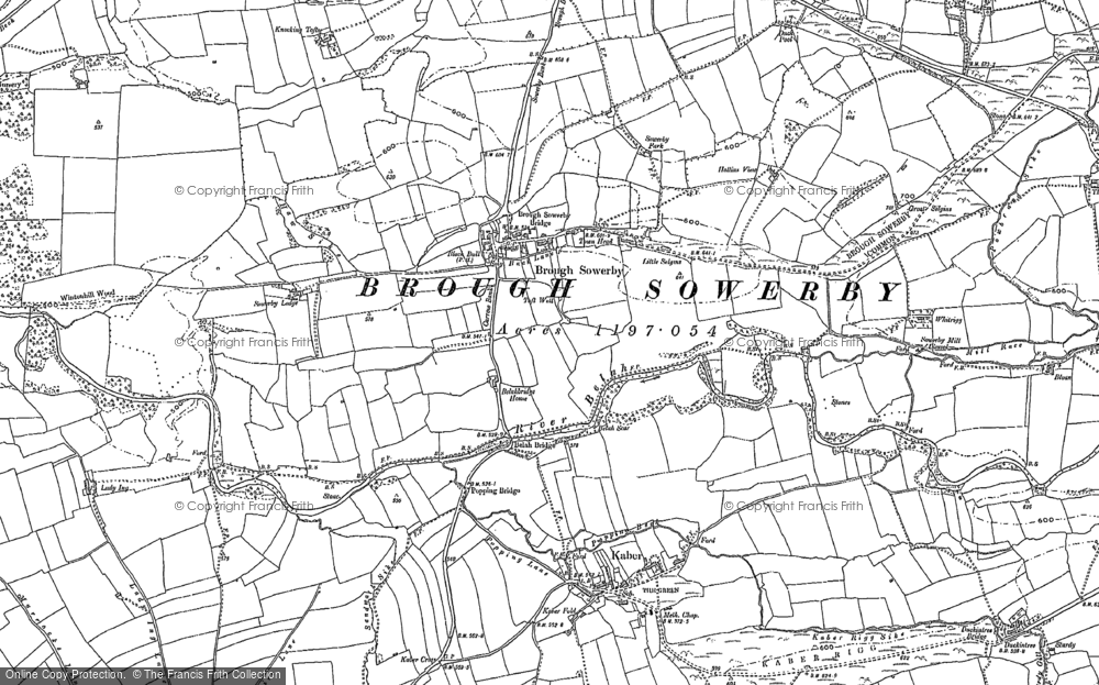Old Map of Historic Map covering Augill Castle in 1898